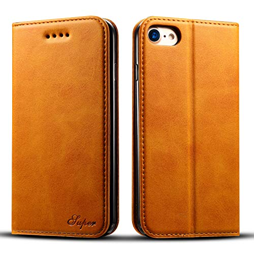 iPhone 7&8 Wallet case FLYERI Leather Case Flip Folio Book Case Wallet Cover with Kickstand Feature Card Slots & ID Holder and Magnetic Closure for iPhone 7&8 (3)