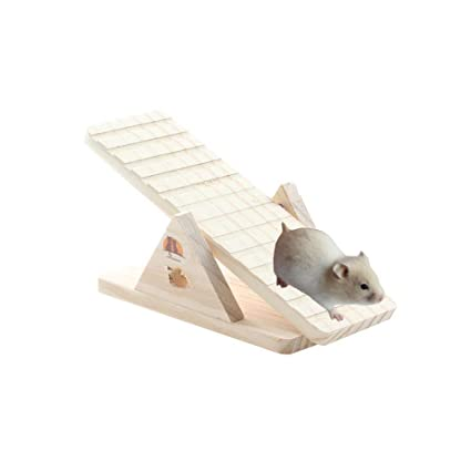 Bird Toys Wooden Ladder Bridge Hamster Mouse Rat Rodents Toy Small Animal Chew Toy Cockatiel Parakeet Accessories