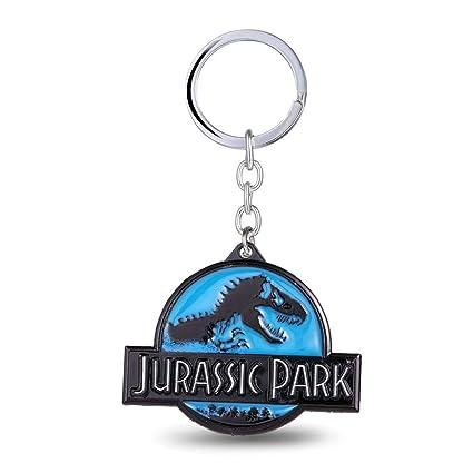 MINTUAN Dinosaurios Jurassic Park Llavero Llavero Azul ...