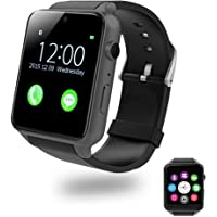 Smart Watch With Heart Rate Monitor,Bluetooth Smartwatches Supports SIM Card Works With Samsung, Apple iPhone etc Android and iOS System Smartphones (Gun Black-A)