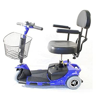 """Zip'r Mobility - Zip'r Roo - Travel Scooter - 3-Wheel - 16.5""""W x 14.5""""D - Blue"""