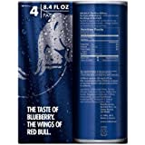Red Bull Blue Edition, Blueberry Energy Drink, 8.4 Fl Oz Cans, 4 Counts