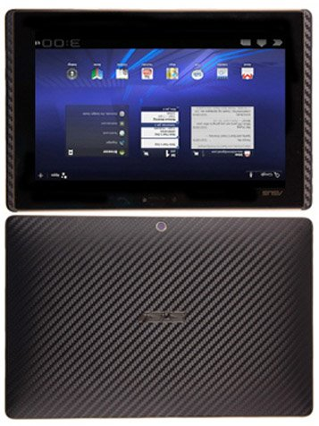 Skinomi Asus Eee Transformer Screen Protector + Carbon Fiber Full Body (Tablet Only), TechSkin Carbon Fiber Skin for Asus Eee Transformer with Anti-Bubble Clear Film Screen