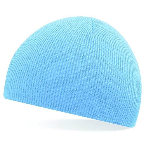 Tire de la gorrita tejida de Beechfield - elegir entre 11 colores Azul Celeste