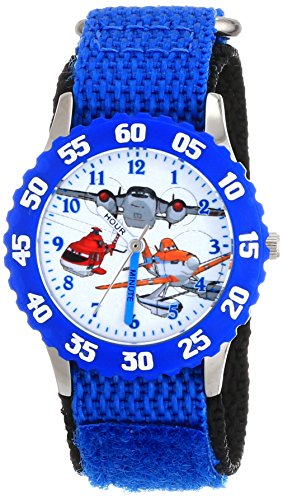 Kids' Planes Fire and Rescue Group, , Analog Display Analog Quartz Blue Watch - Disney W001634