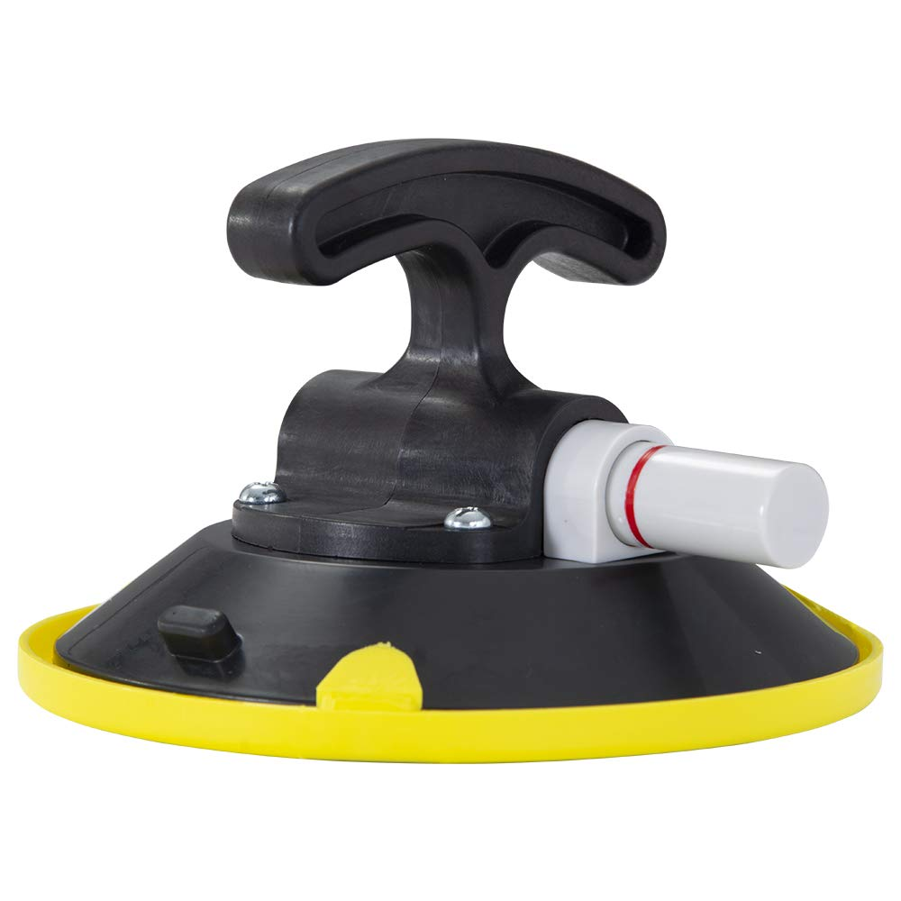 "IMT 6"" Suction Cup Pump Active, T-Handle Vacuum Lifter with Concave Plate for Flat/Curved Surface, Car Dent Puller/Glass Holder Hooks"