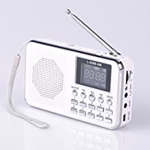 Mfine Portable Mini USB AM/FM Radio Speaker Music Player Micro SD/TF Card For PC iPod Phone (938B White)