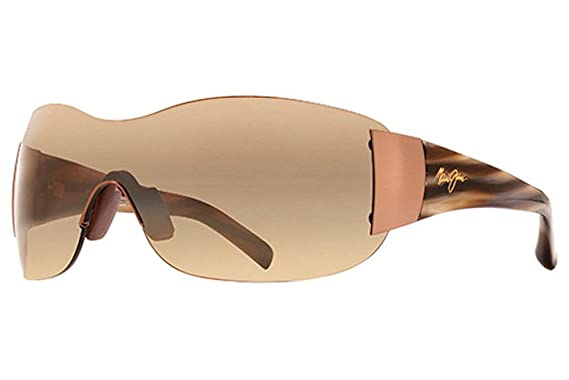 dba09e00f0d Image Unavailable. Image not available for. Color  MAUI JIM KULA 514  H514-23 METALLIC GLOSS COPPER PLASTIC HCL BRONZE SHIELD POLARIZED SUNGLASSES