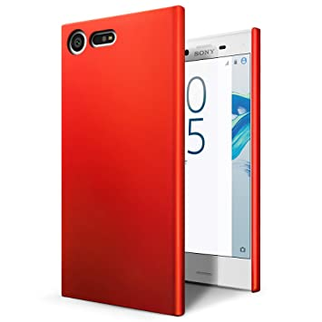 low priced dd249 cb288 SLEO Sony Xperia X Compact Case - Rubberized Hard PC Back Case Cover for  Sony Xperia X Compact Phone - Red