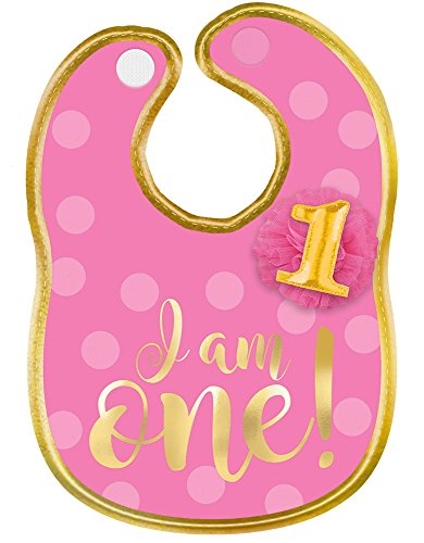 amscan 1st Birthday Girl Fabric - Birthday Bib