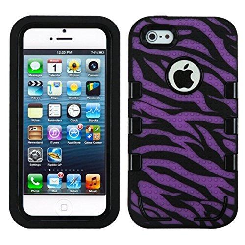 MYBAT Tuff Enuff hybride téléphone protection d'écran Package–Emballage individuel–Violet électrique/noir