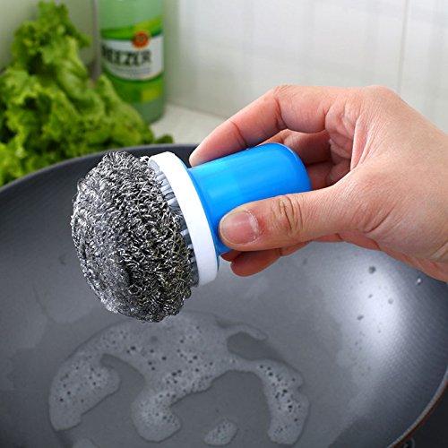EQLEF® Shank Stahlkugel Pinsel Reinigungsbürste Starke Dekontamination Scrubbing Töpfe Drahtbürsten
