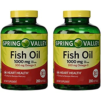 Spring valley fish oil omega 3 1000 mg 400 for Spring valley fish oil 1200 mg