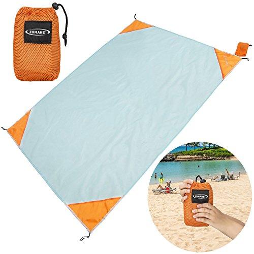 Pocket Blankets, Beach Sheet Compact Picnic  Bright Colorful