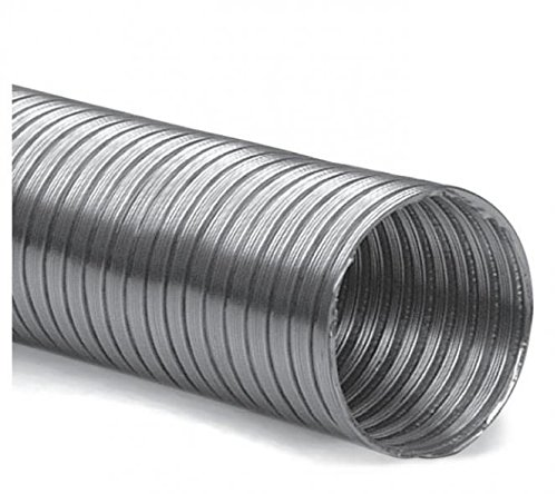 Alu-Flexrohr 3 m DN 160 mm Aluflexrohr flexibel L/üftungsrohr Flexschlauch Alurohr