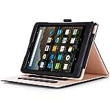 ProCase Amazon Fire HD 8 Case (2017 7th Generation; 2016 6th Generation), Stand Folio Folding Protective Cover for Fire HD 8 Tablet (7th Gen, 2017 release;6th Gen, 2016 release) –Black