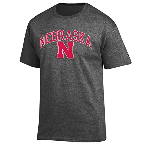 Elite Fan Shop Nebraska Cornhuskers Tshirt Varsity Charcoal - ()