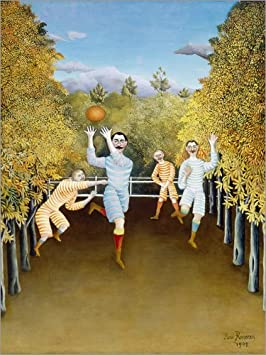 Reproduction Haut de Gamme Poster 30 x 40 cm The Football Players de Henri Rousseau Nouveau Poster