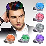 HailiCare Unisex Temporary Hair Dye Wax, Fashion DIY Hair Color Wax for Adults Kids & Children, Perfect for Party, Cosplay (6 Colors) (Color: 6 Colors)