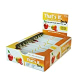 Apple + Mango & Chili That's It. Zesty Fruit Bars | 100% Natural Great Tasting Real Fruit Bar | Vegan, Gluten Free, Paleo, Kosher, Non GMO, 100 Calories, No Preservatives, No Added Sugar | Pack of 12