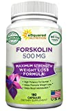 100% Pure Forskolin 500mg Max Strength - 180 Capsu...