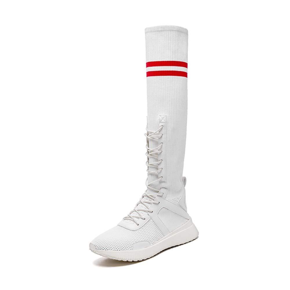 XINGMU High Class and Sport Schuhe Lange Rohr Verbindlichen Stile Elastischen Stiefel.