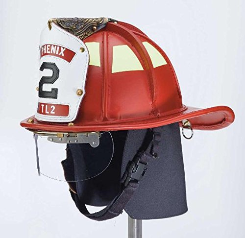 Phenix TL-2 Red Leather Firefighting Helmet: Ratchet Suspension (Best Leather Fire Helmet)