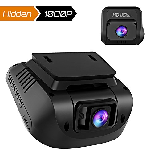 Both 1080P FHD Front and Rear Dual Lens Dash Cam in Car Camera Recorder Crosstour External GPS HDR Both 170°Wide Angle Motion Detection G-Sensor Loop ()