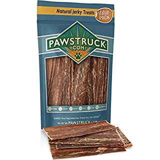 """Dog Jerky Treats (5""""-6"""" Strips, 15 Pack) Joint Health 100% Beef Chews - Bulk, Gourmet Gullet Straps - Naturally Rich in Glucosamine & Chondroitin - Promotes Healthy Joints by USA Company"""