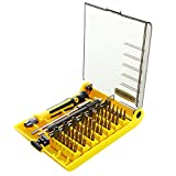 NUZAMAS 45-in-1 Precision Screwdriver Tool kit Compact Disassembly Repair Bits with Flexable Extension Bar in Organizer Case for Laptop Computer Phone iPhone Electronic Products and Appliances