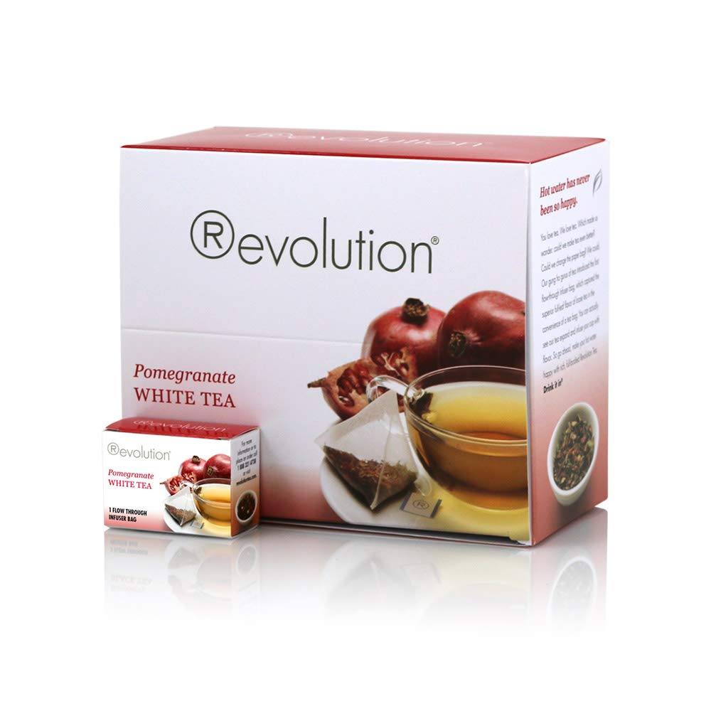Revolution White Pomegranate Tea, 30-Count Tea Bags