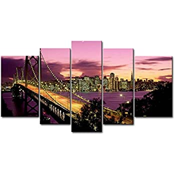 This item So Crazy Art 5 Piece Wall Art Painting San Francisco Bay Bridge  Pictures Prints On Canvas City The Picture Decor Oil For Home Modern  Decoration ...