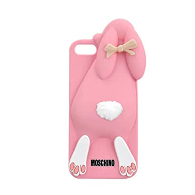 big sale db970 25a7c New Moschino Rabbit/ Cute 3D Silicone Back Cover Case For Apple ...