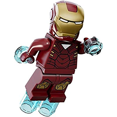 LEGO Marvel Super Heroes Minifigure - Iron Man with Triangle on Chest: Toys & Games