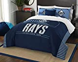 MLB Tampa Bay Rays Grandslam Full/Queen Comforter and 2 Sham Set
