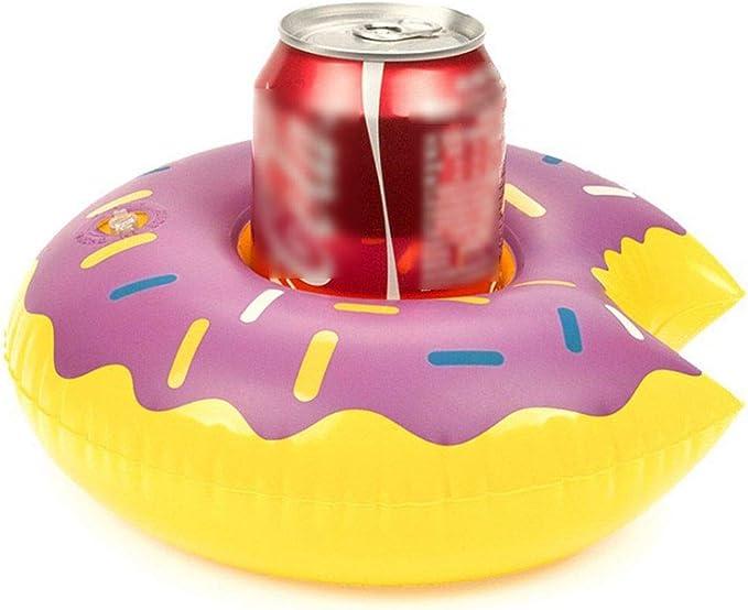 Botella Hinchable con Forma de Donut para Bebidas, para baño o Piscina, para Fiestas, Morado, 21 * 20 * 8cm: Amazon.es: Hogar