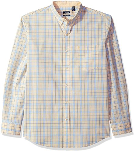 IZOD Men's Essential Tattersal Long Sleeve Shirt, Sundress, X-Large - Izod Mens Dress Shirts