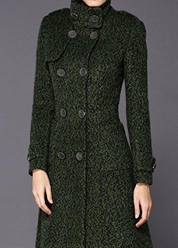 Damen Zweireihig Kaschmir Mantel Lange Graben Mantel Wolle Mantel