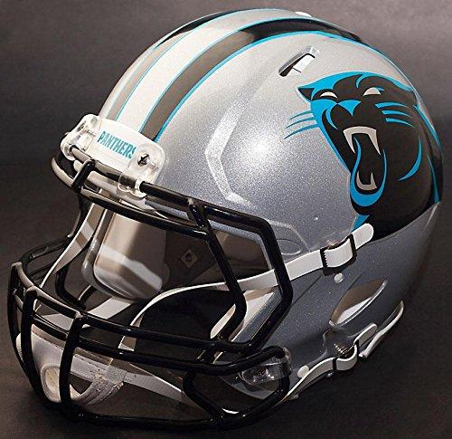 Riddell Helmet Carolina Panthers Replica (Riddell Speed CAROLINA PANTHERS NFL REPLICA Football Helmet with S2BD Football Helmet Facemask/Faceguard)