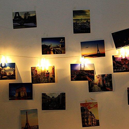 Bedroom Safe String Lights: Holidayli 20 LED Photo Hanging Clips String Lights For