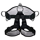Climbing Harness - Ingenuity Professional Mountaineering Rock Climbing Harness,Rappelling Safety Harness - Work Safety Belt (Black 2)