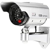 MODAVELA Camara Falsa Dummy Luz Intermitente Exteriores e Interiores Vigilancia Ahuyenta Tipo Bullet