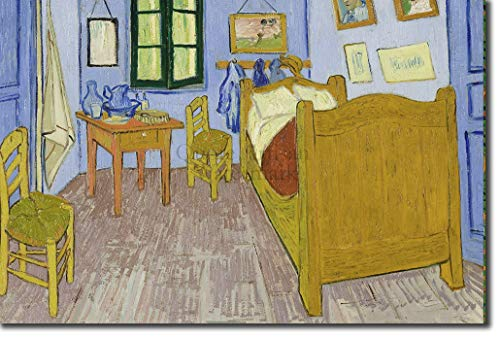 Introspective Chameleon Vincent Van Gogh - Bedroom in Arles (1888) - Classic Painting Photo Poster Print Art Gift - Willem Dutch Post-Impressionist - Size: 18 x 12 Inches (45 x 30 cm) (Vincent Van Gogh Bedroom In Arles 1888)