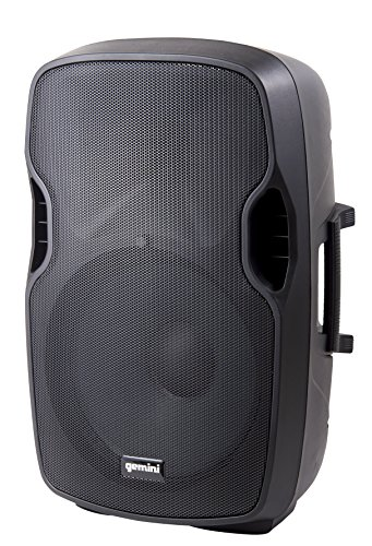 Gemini AS Series AS-08BLU Professional Audio Bluetooth 8-inch Portable Active PA Loudspeaker with High/Low Equalization and Gain Control, Mic and Line XLR, 1/4