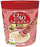 チャオ (CIAO) CIAOちゅーる グルメ まぐろ しらす ほたて貝柱入り 14g×60