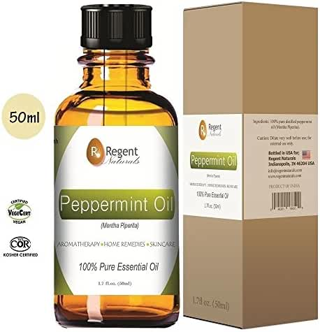 Premium Peppermint Essential Oil 100% Pure Natural Mentha Piperita, Organic Therapeutic Grade large 50ml. Mice & Spiders, Ants Repellent, hair, Spray, tea, Headaches. Get ONE now!