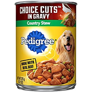Pedigree Choice Cuts In Gravy Canned Wet Dog Food Country Stew, (12) 13.2 Oz. Cans