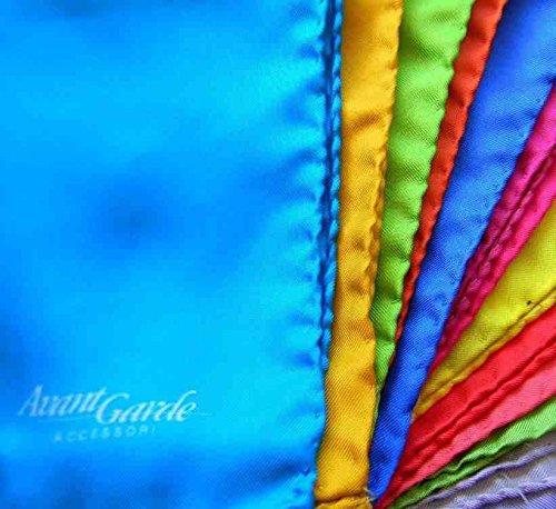 Avantgarde - Novita Fluo Uomo Nuovi Fazzoletti da Taschino Tanti Colori Pochette Tinta Unita Colore: Arancio FAZZunitoFLUO69_4171_1-2 2-38