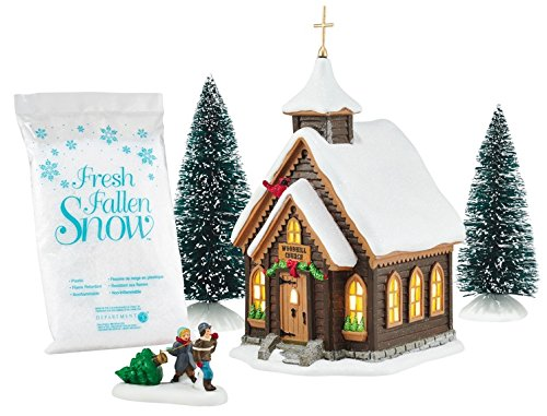 Department 56 Holiday In Tne Woods Christmas' Eve Church Gift'' Set by Department 56 (Image #1)