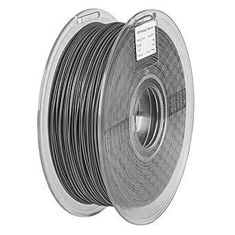 Filamento Pla de 1,75 mm, gris, 1 kg de bobina (2,2 libras ...
